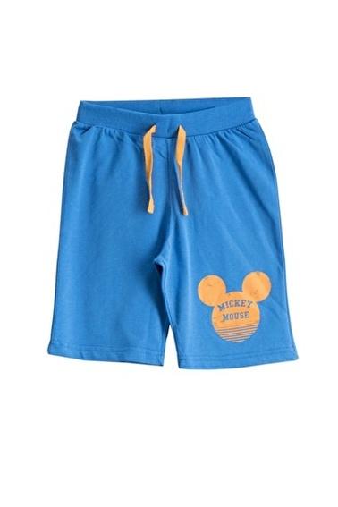 Mickey Mouse Mickey & Minnie Mouse Lisanslı Deniz Mavisi Erkek Çocuk Bermuda Mavi